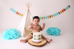 Long beach cake smash photographer
