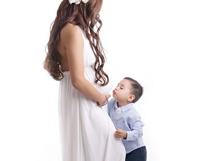 Studio Maternity Photo Shoot | Laguna Beach Photographer