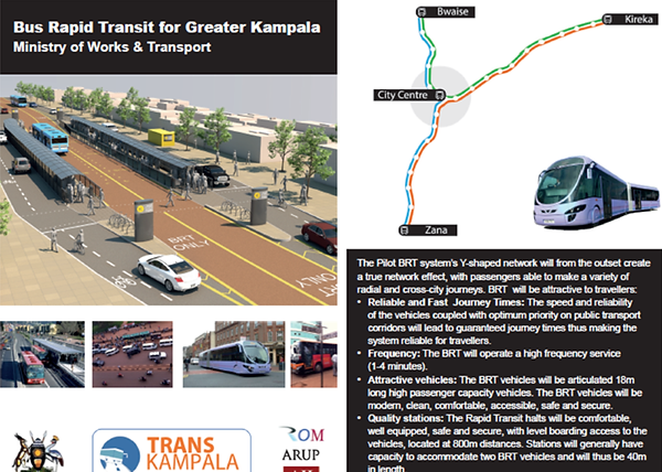 Graphic from 2012-13 ROM/Arup joint venture project for Kampala BRT