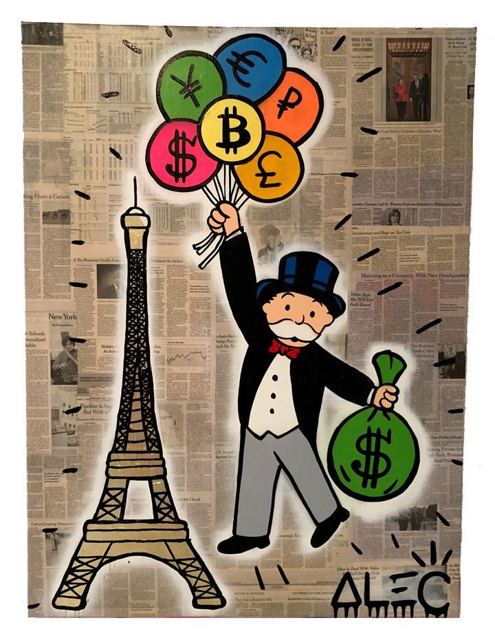 Alec Monopoly art registered on bitcoin blockchain