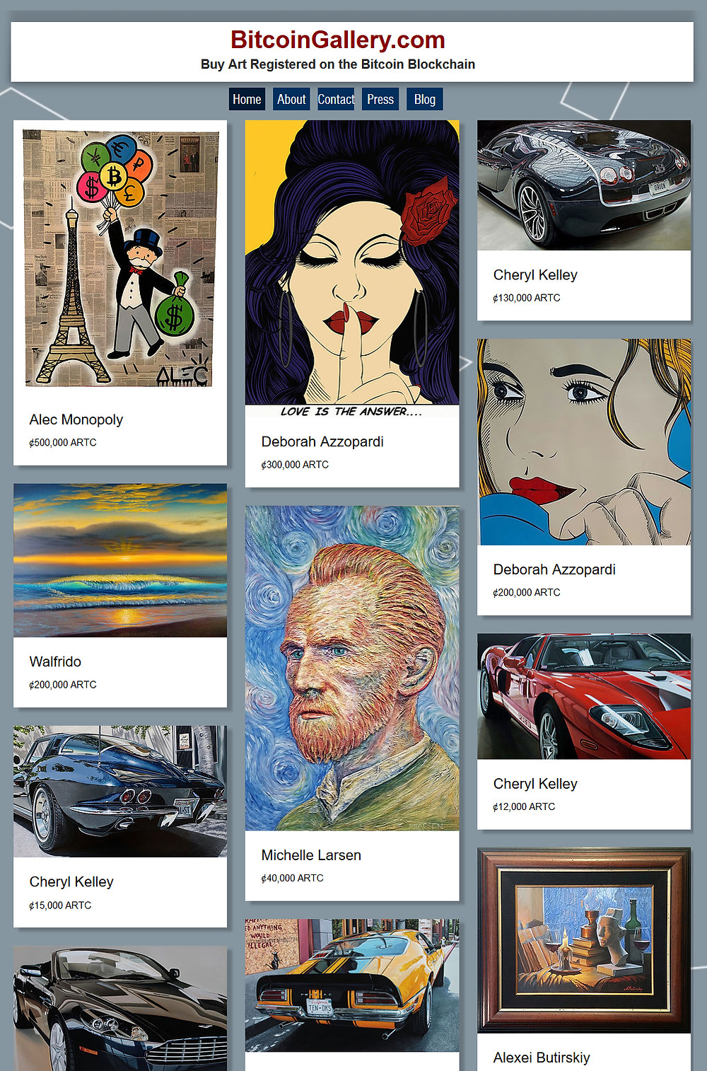 Bitcoin Gallery.com - Buy art using bitcoin