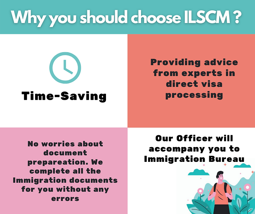 why you should choose ILSCM, Our officer will accompany you to immigration bureau