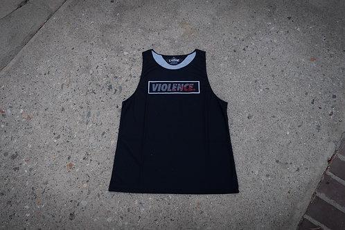 VIOLENCE. - Bloodsplatter Box Logo Dry Fit - Tank Top