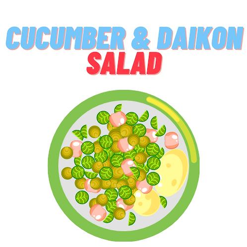Cucumber & Daikon Salad
