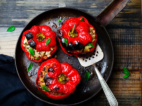 Israeli Impossible Stuffed Bell Peppers