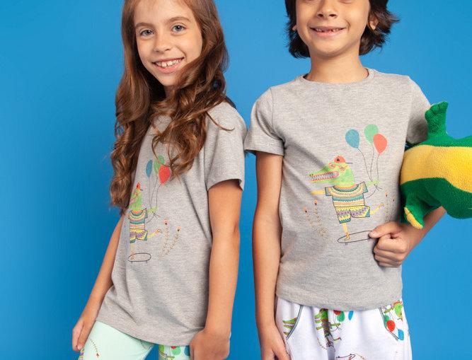 T-shirt Animada Croco Frente
