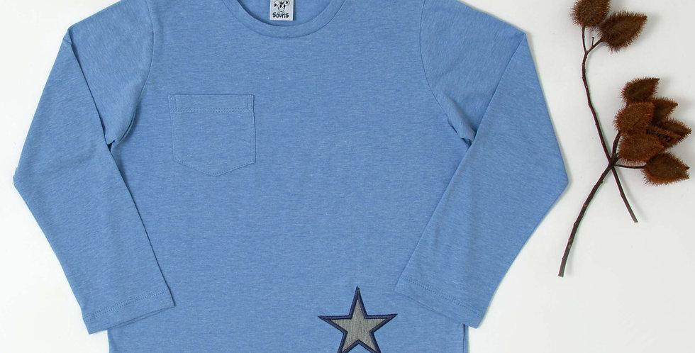 T-shirt estrela bordada