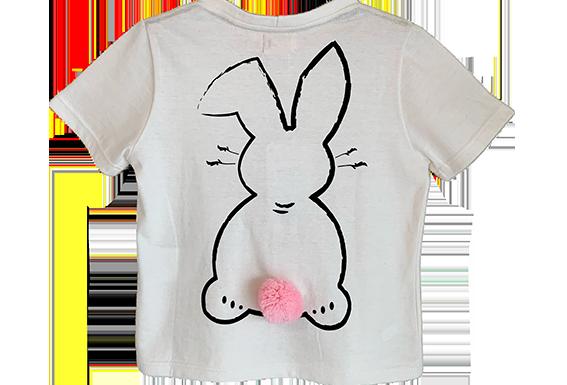 T-shirt animada pompom