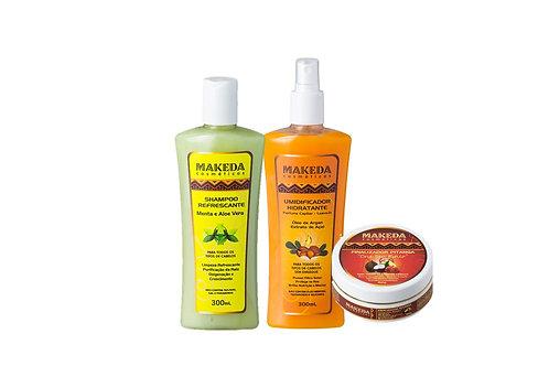 Kit Refrescante com 3 produtos para quem possui raiz oleosa tipo 2 ABC e 3AB