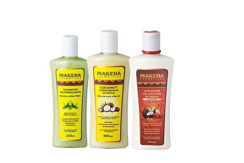 Kit Refrescante com Coconut Condicionador e Ativador Pitanga- 3 produtos
