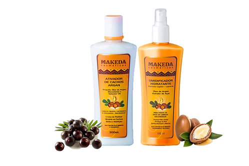 Kit Argan com Ativador de Argan e Umidificador Hidratante 300 ml
