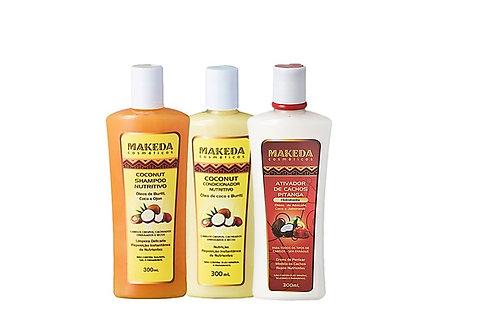Kit Coconut com Coconut  Shampoo e Condicionador e Ativador de Cachos Pitanga 30