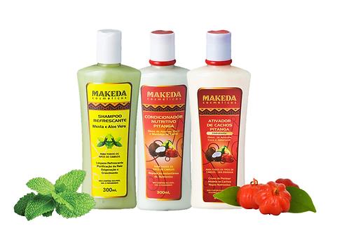 Kit Refrescante para quem possui Cabelo Ondulado, Liso Ondulado e Raiz Oleosa