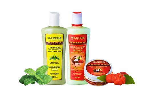 Kit Refrescante para quem possui cabelo liso tipo 2 ABC e raiz oleosa