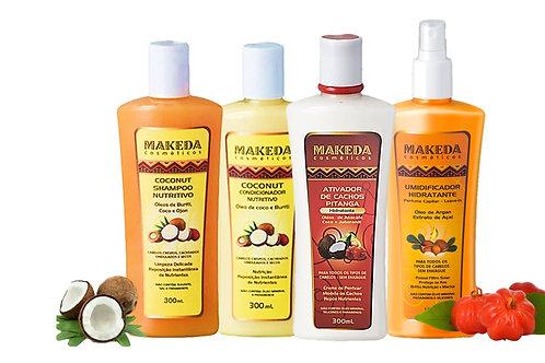 Kit Coconut com Coconut Cond., Ativador Pitanga   para cabelos 3ABC e 4AB