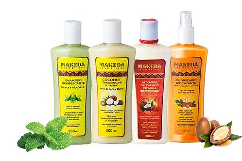 Kit Refrescante com Coconut Cond. e  Ativador Pitanga ideal para cabelos 3 ABC