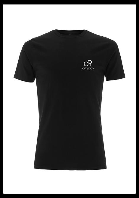dirtyrock logo tee black