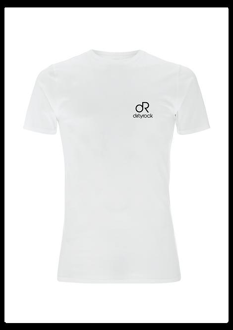 dirtyrock logo tee white