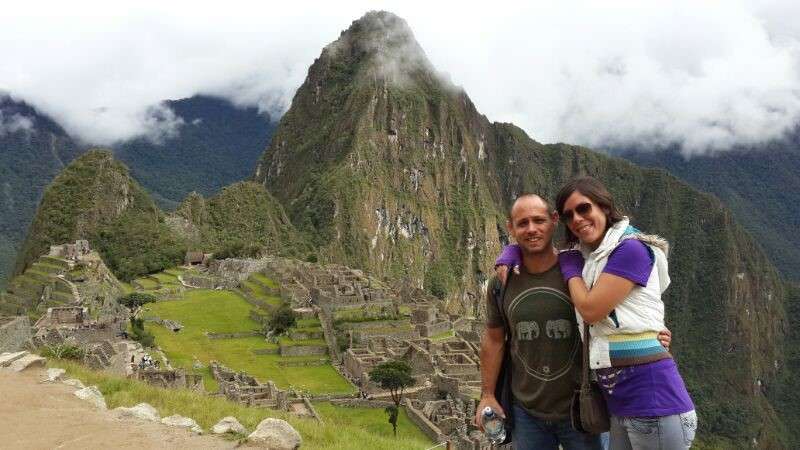 Guillermo and his wife, Adriana, at Macchu Picchu in the Peruvian Andes