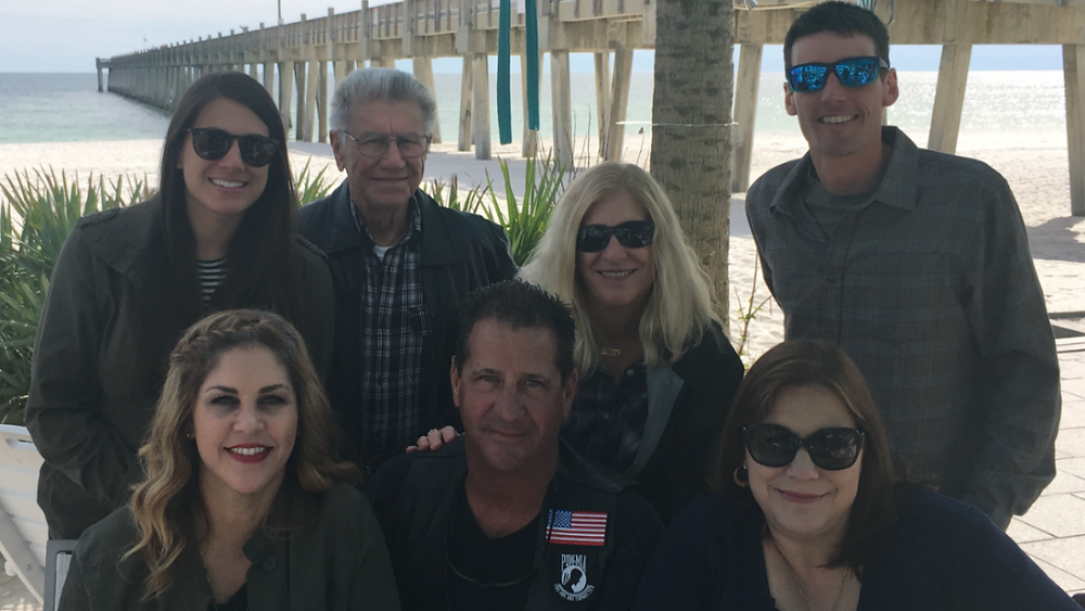Tina's family (top L to bottom R): Monica, My Dad, Teri, Paul, Tina, Troy, & Tanya