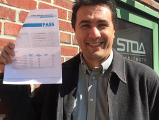 Carlos Godinez passes final ARE exam!!