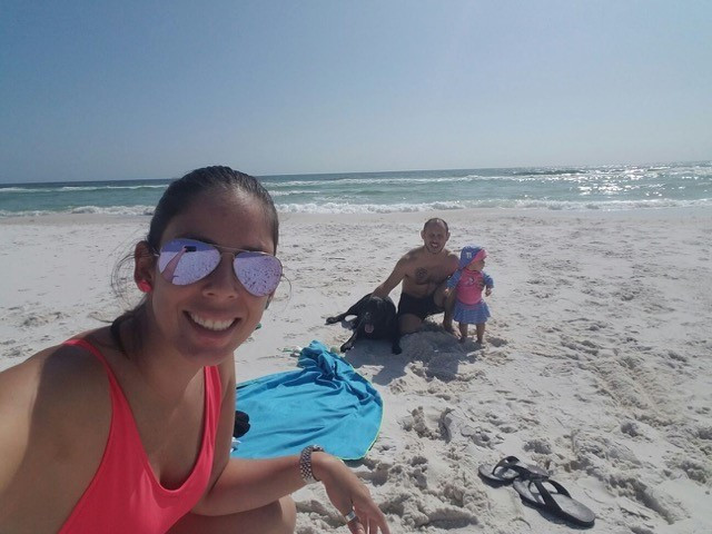 Guillermo and family at Pensacola Beach