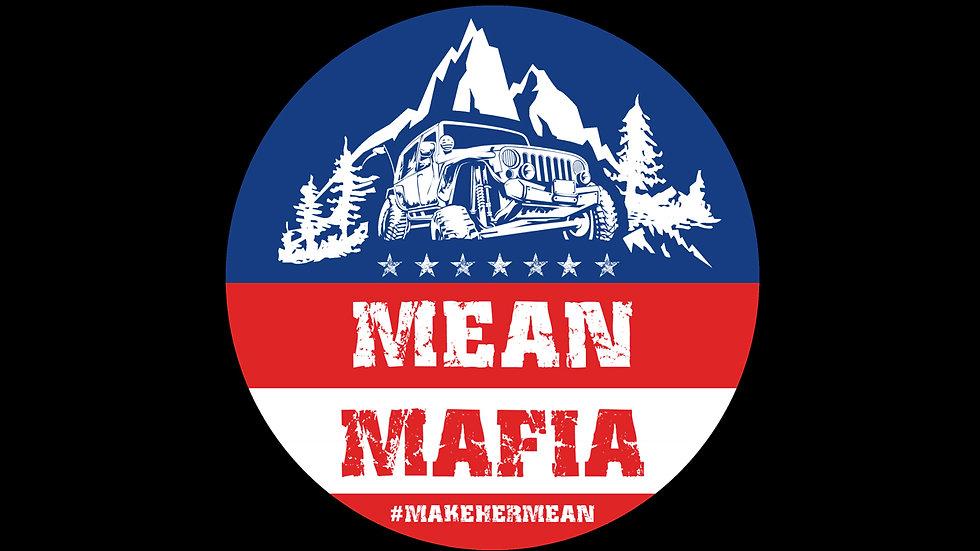 Mean Mafia Patriotic Sticker