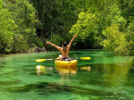 Kayaking in Weeki Wachee!