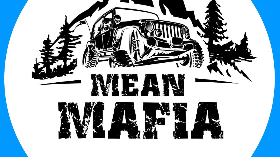 White Mean Mafia Sticker