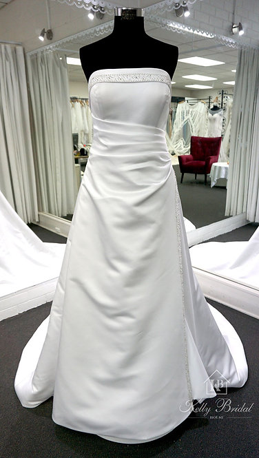 Aileana A-Line Style Wedding Gown