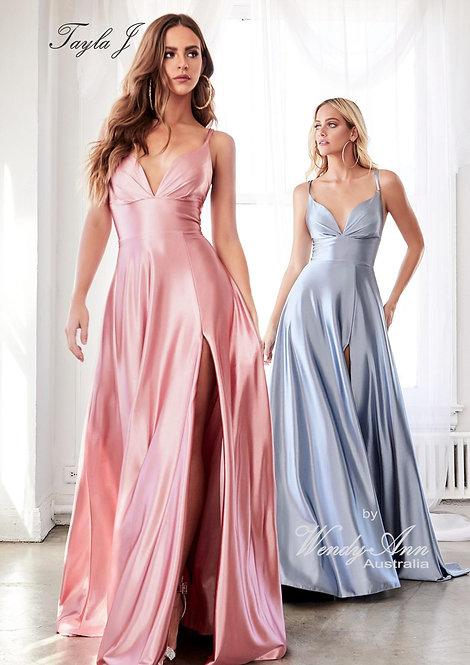 Wendy Ann Stunning Satin A Line Formal Gown