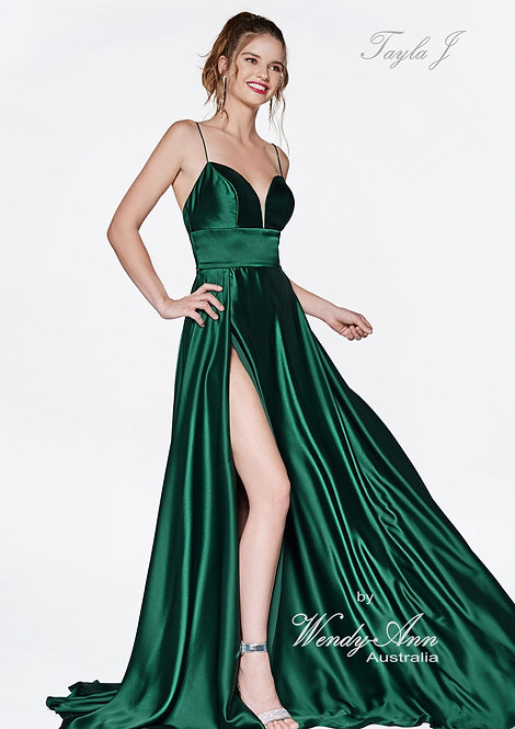 Wendy Ann Stunning Satin A Line Formal Gown