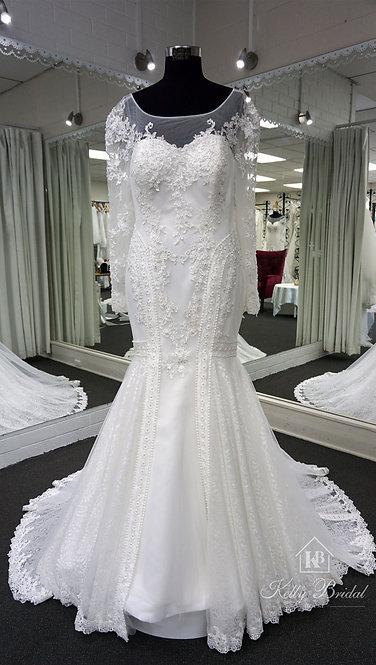 Nerissa Mermaid Style Wedding Gown