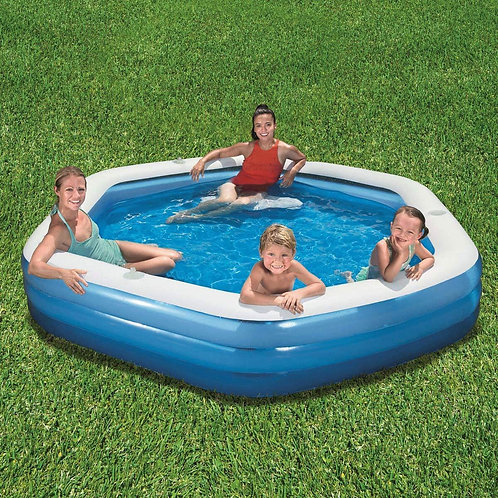 "BestWay 8ft 9"" (267 cm) Hexagon Family Lounge Pool"
