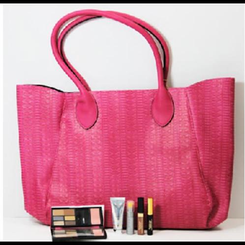 Elizabeth Arden 5 Piece Set Pink Handbag