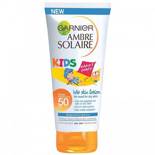 Garnier Ambre Solaire Kids Wet Skin Lotion High SPF 50 - 150ml