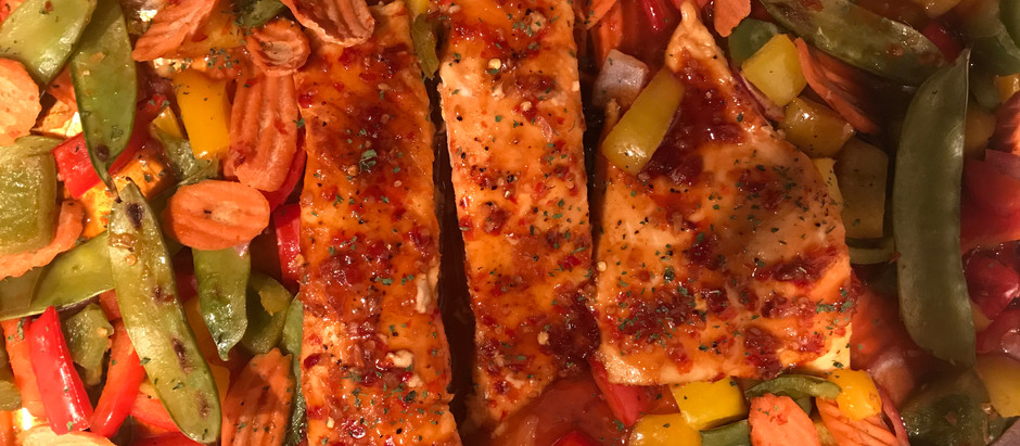 Thai Glazed Salmon with Vegetables