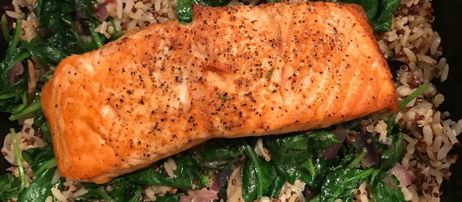 Roasted Salmon Quinoa Bowl