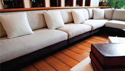 Revêtement pour un canapé, tissu fait-main BYAKAR, résidence privée