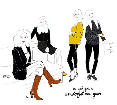 Illustration de l'équipe PERRINE  par Margot Changeon