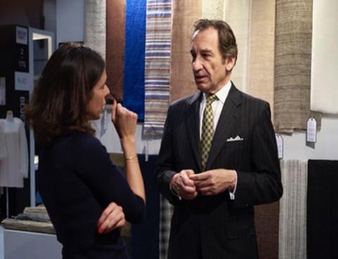 Rencontre avec l'Ambassadeur de France au Japon, Thierry Dana, lors du salon Interior Lifestyle à Tokyo, juin 2016