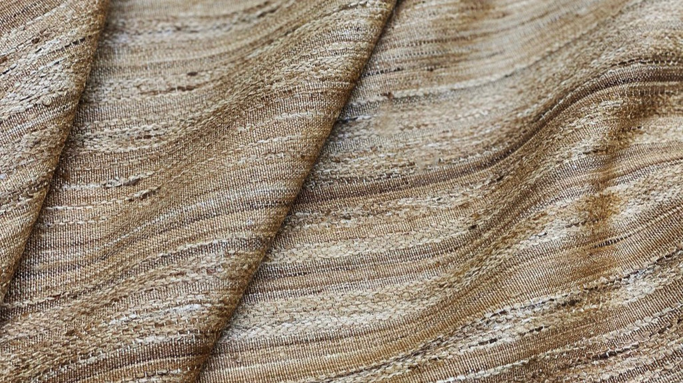 TASSAR, tissu PERRINE fait main en lin et soie