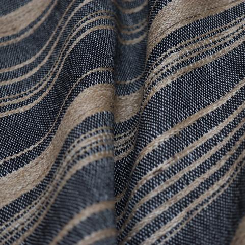 AXEL, tissu PERRINE fait main en lin et soie
