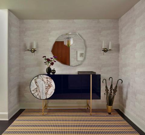 Architecte d'intérieur : Bella Mancini Design  Tapis tissé-main COLOMBO