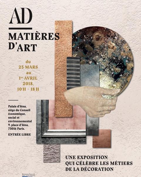 Invitation à l'exposition AD Matières d'Art Présentation de créations exclusives signées Perrine Rousseau