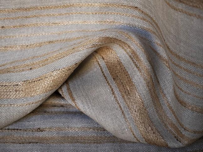 MALDA, tissu PERRINE fait main en lin et soie