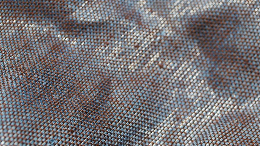 Tissu PERRINE réalisé à la main en inox et lin