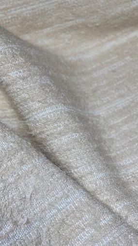 ALBA, tissu PERRINE fait main en lin et coton