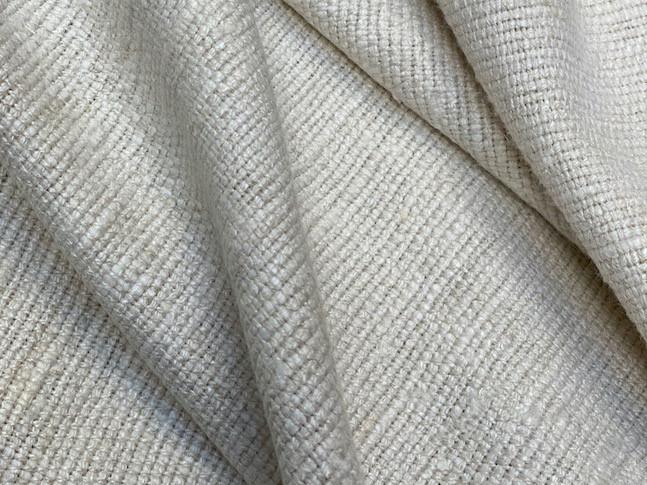 IENA, tissu PERRINE fait main en soie et lin