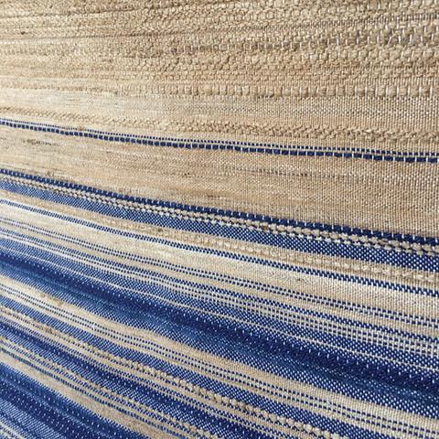 Panneau PERRINE, fait-main en soie et lin